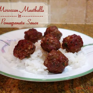 Moroccan Meatballs in Pomegranate Sauce