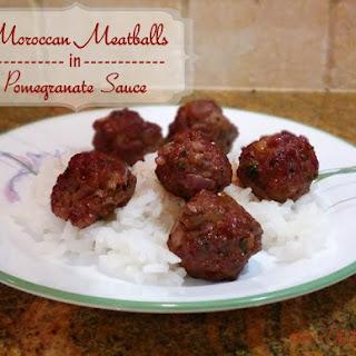 Moroccan Meatballs in Pomegranate Sauce