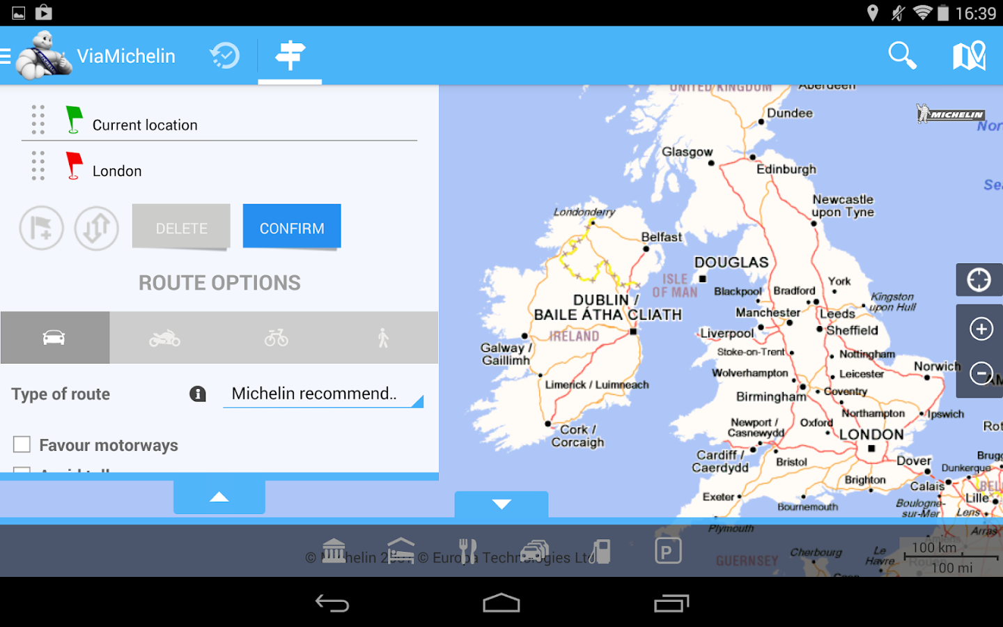 ViaMichelin: Route GPS Traffic- screenshot