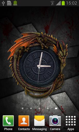 Gothic Dragon Clock Wallpaper