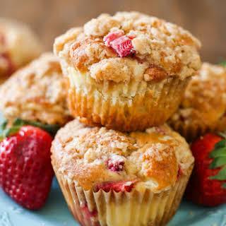 Strawberry Cheesecake Muffins.