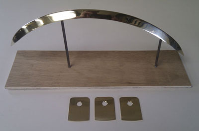 1952 Lagonda drophead front wing moulding with tabs