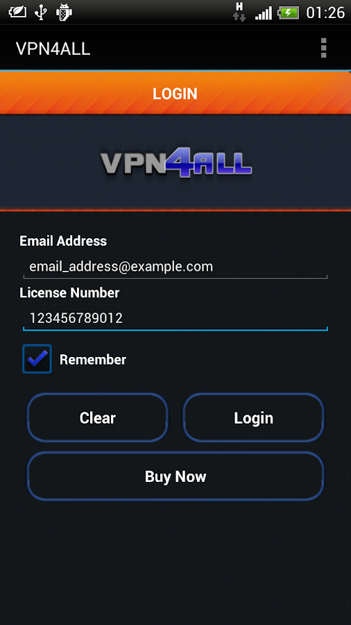 VPN4ALL Mobile- screenshot