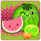 GO SMS Sweet Watermelon Theme