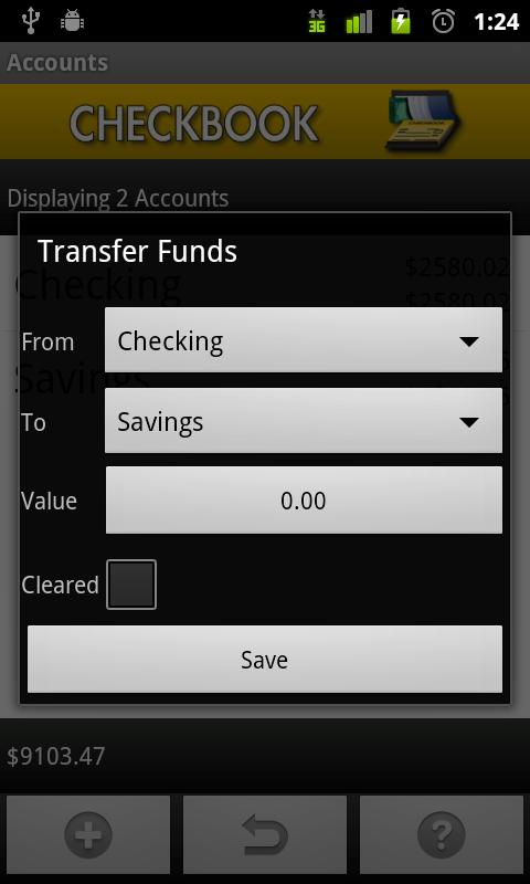 Checkbook screenshot #5