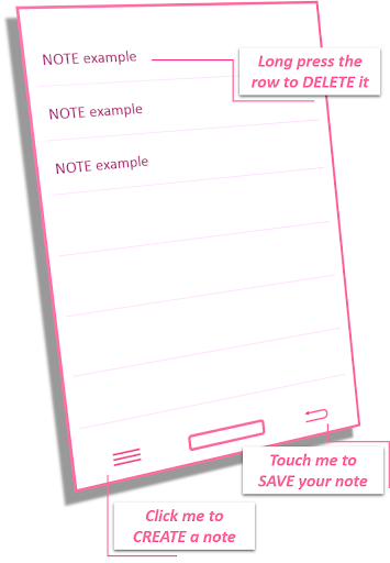 NOTE PINK FREE