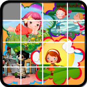 Cartoon Sliding Puzzle Game