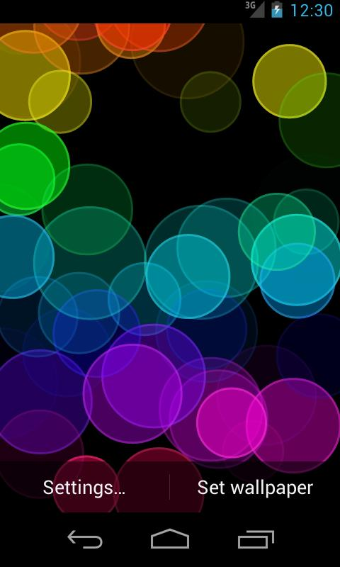 Rainbow Rings - Live Wallpaper - screenshot