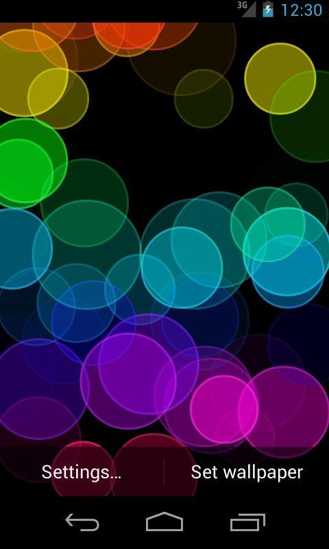 Rainbow Rings - Live Wallpaper - screenshot