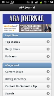 ABA Journal Mobile - screenshot thumbnail
