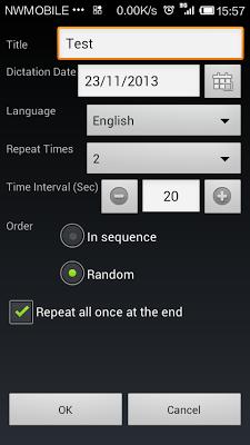 Self Dictation - screenshot