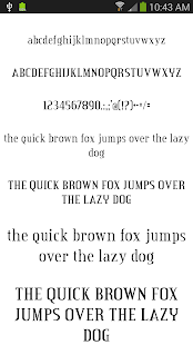 Fonts for Android 50 #2 - screenshot thumbnail