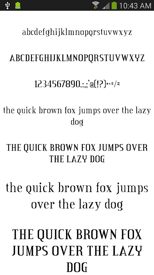 Fonts for Android 50 #2 - screenshot