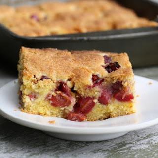 Cherry Cornmeal Cake.
