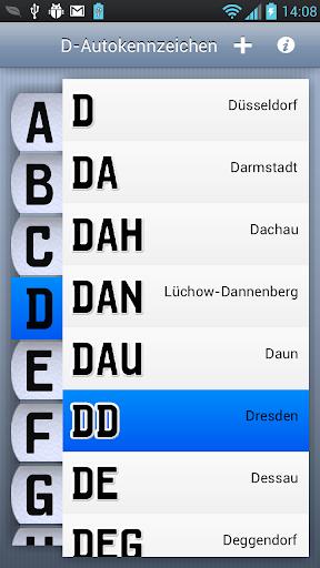 D-Autokennzeichen