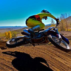 Scrubbing Hard by Zachary Zygowicz - Sports & Fitness Motorsports ( scrub, yamaha, motocross, dirtbike, dirt )