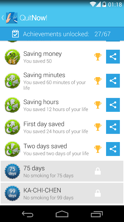 QuitNow! Pro - Stop smoking - screenshot