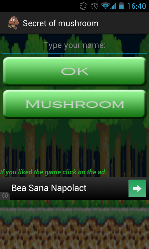 Secret of mushroom- screenshot