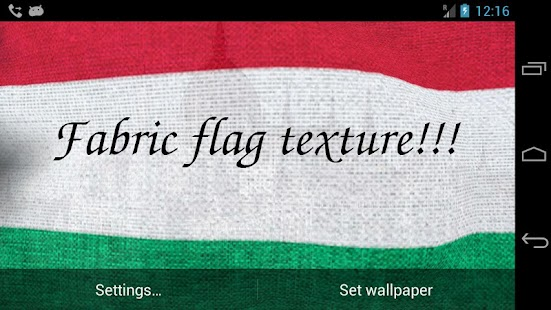 3D Hungary Flag LWP + - screenshot thumbnail