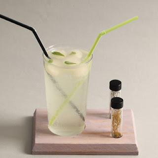 Laskey Lemon Soda with Bay Ice Cubes