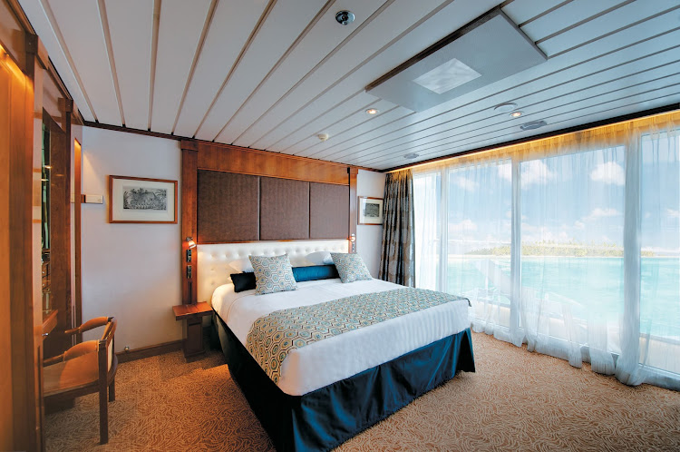 Wake up in wonderland: Owner's Suite 701 aboard the Paul Gauguin.