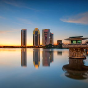 Building at sunset by Fadly Hj Halim - City,  Street & Park  City Parks ( beautiful, slowshutter, architecture, nikon, 300s )