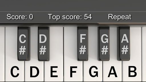 The Piano Memory Game