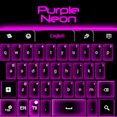 Purple Neon Keyboard