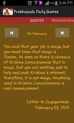 Prabhupada Daily Quotes