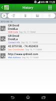 Screenshot of QR Droid Code Scanner