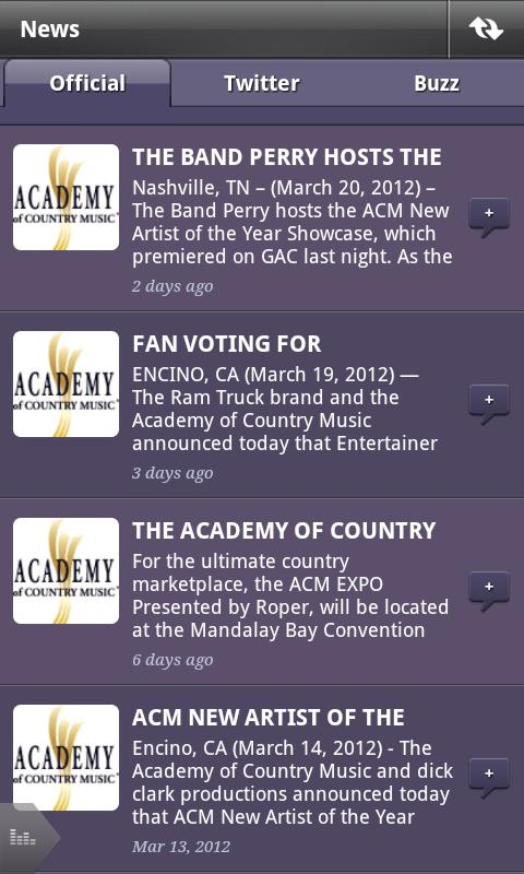 Academy of Country Music (ACM) - screenshot