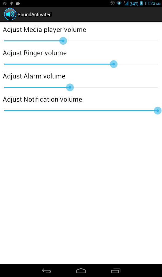 Volume Controller - screenshot
