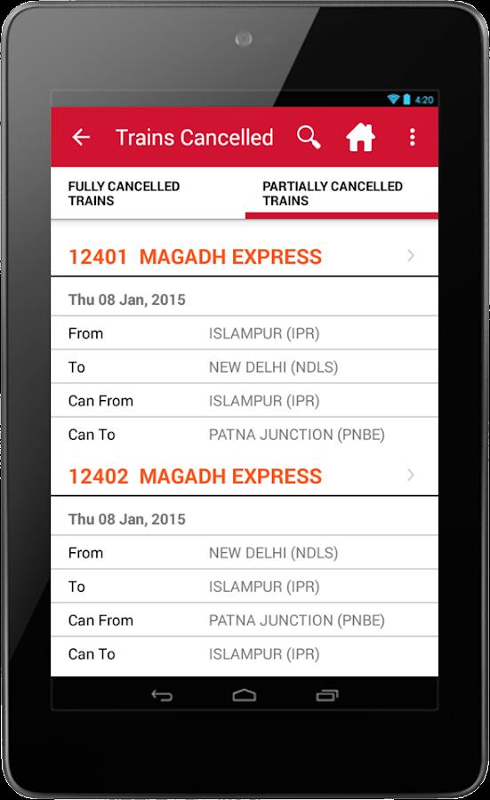 Indian Rail Irctc Amp Train Pnr Screenshot