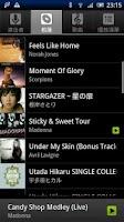 Screenshot of Music shortcut for Xperia X10