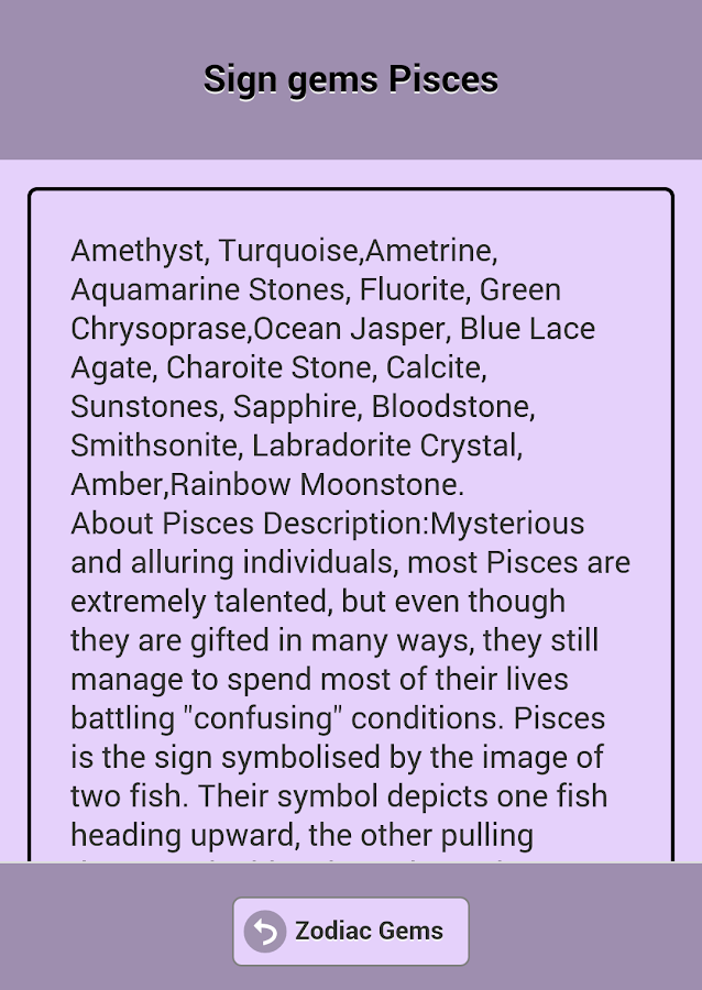 Gems of the zodiac signs. - Android Apps on Google Play