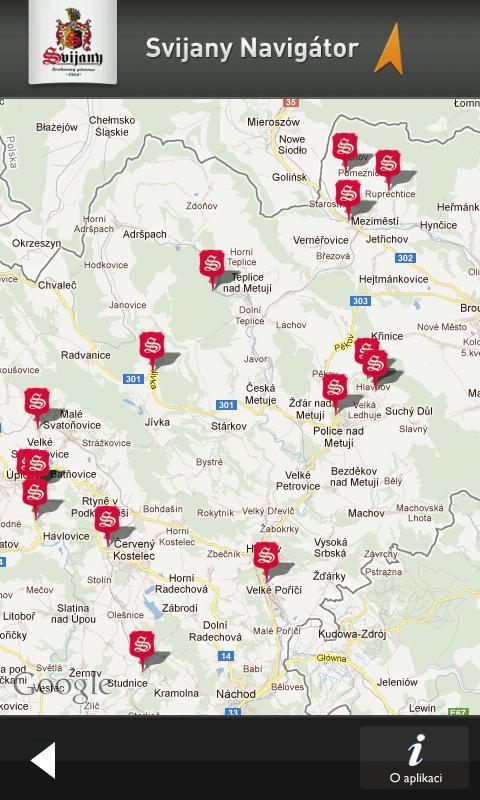 Svijany navigátor - screenshot