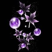 3D  purple leaf