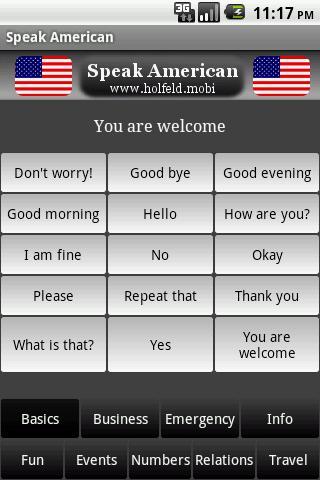 Speak American- screenshot