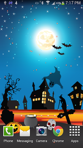 Halloween Witch Live Wallpaper