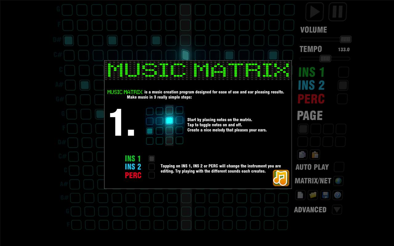 Music Matrix- screenshot