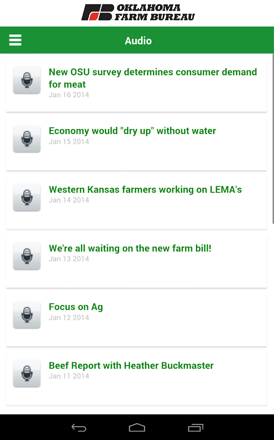 Oklahoma Farm Bureau- screenshot