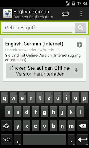 Deutsch-Englisch Wörterbuch