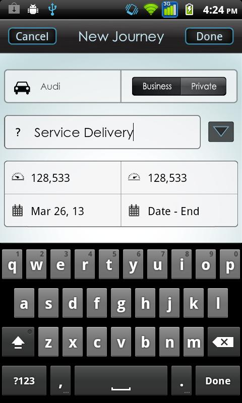 Vehicle Logbook - screenshot