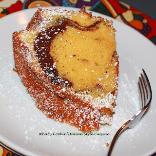 Swirly Marble Pound Cake