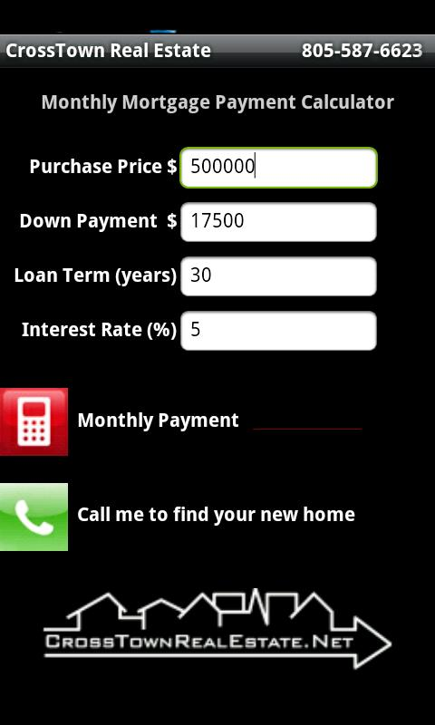CrossTown Mortgage Calculator - screenshot