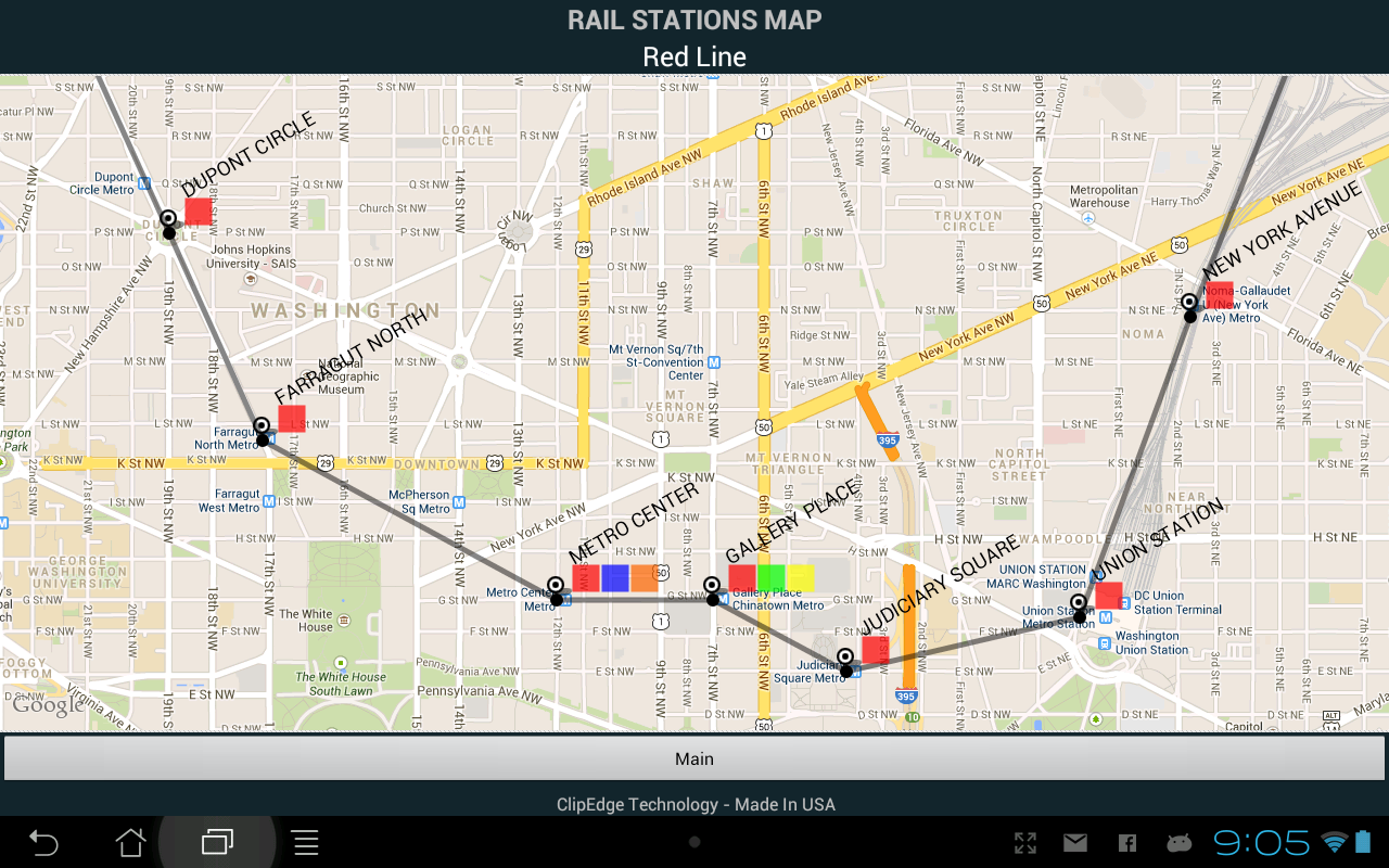 DC Metro ETA - screenshot