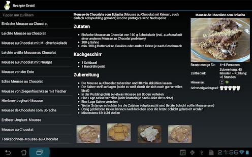 Koch Droid Rezepte - screenshot thumbnail