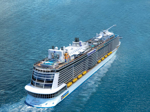 Quantum-of-the-Seas-aerial - Quantum of the Seas sails itineraries in and around China and Southeast Asia.