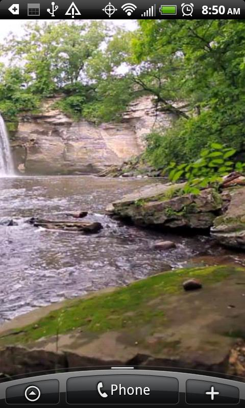 Eden Waterfalls Live Wallpaper - screenshot