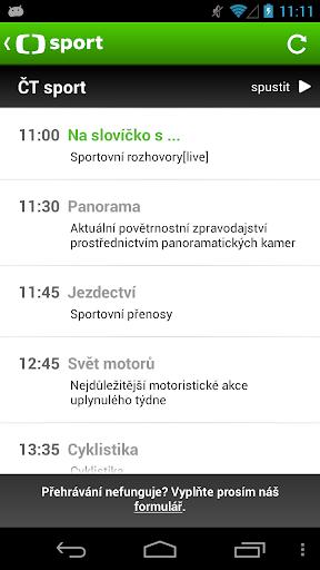 ČT sport 1.7.8 screenshots 4